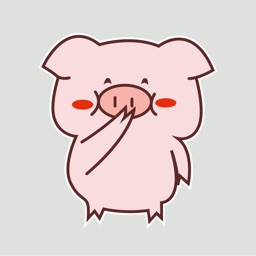 Pink Pig Animated Stickers