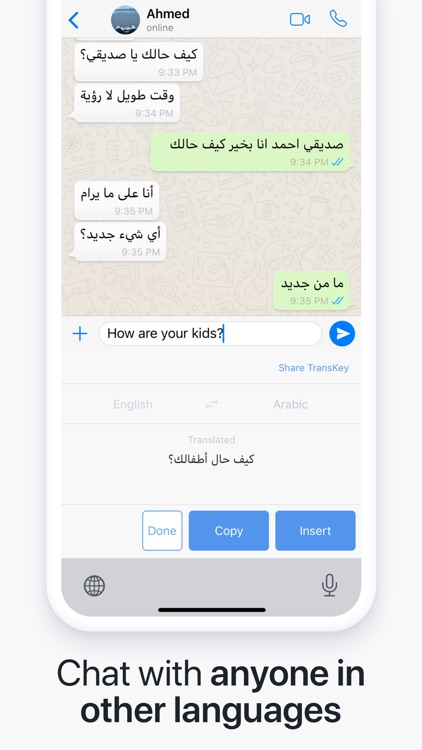 TransKey - Chat Translator App