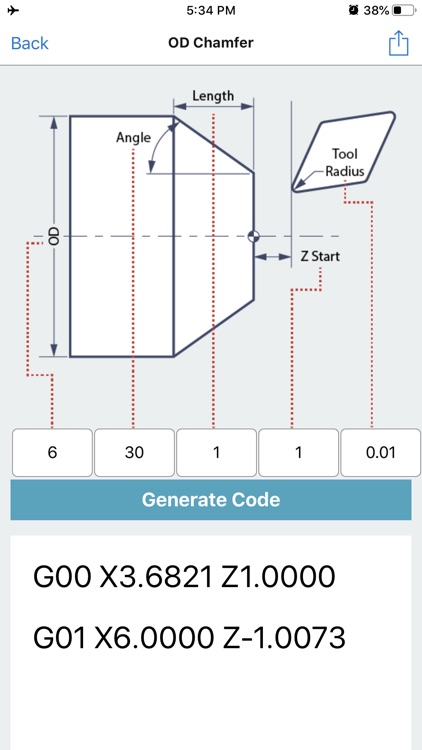 G Code Generator CNC OD ID