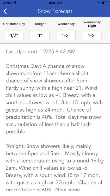 Snow Report & Forecast screenshot-6