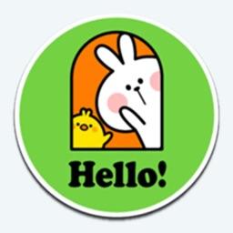 Stickers: Hello Rabbit!!!