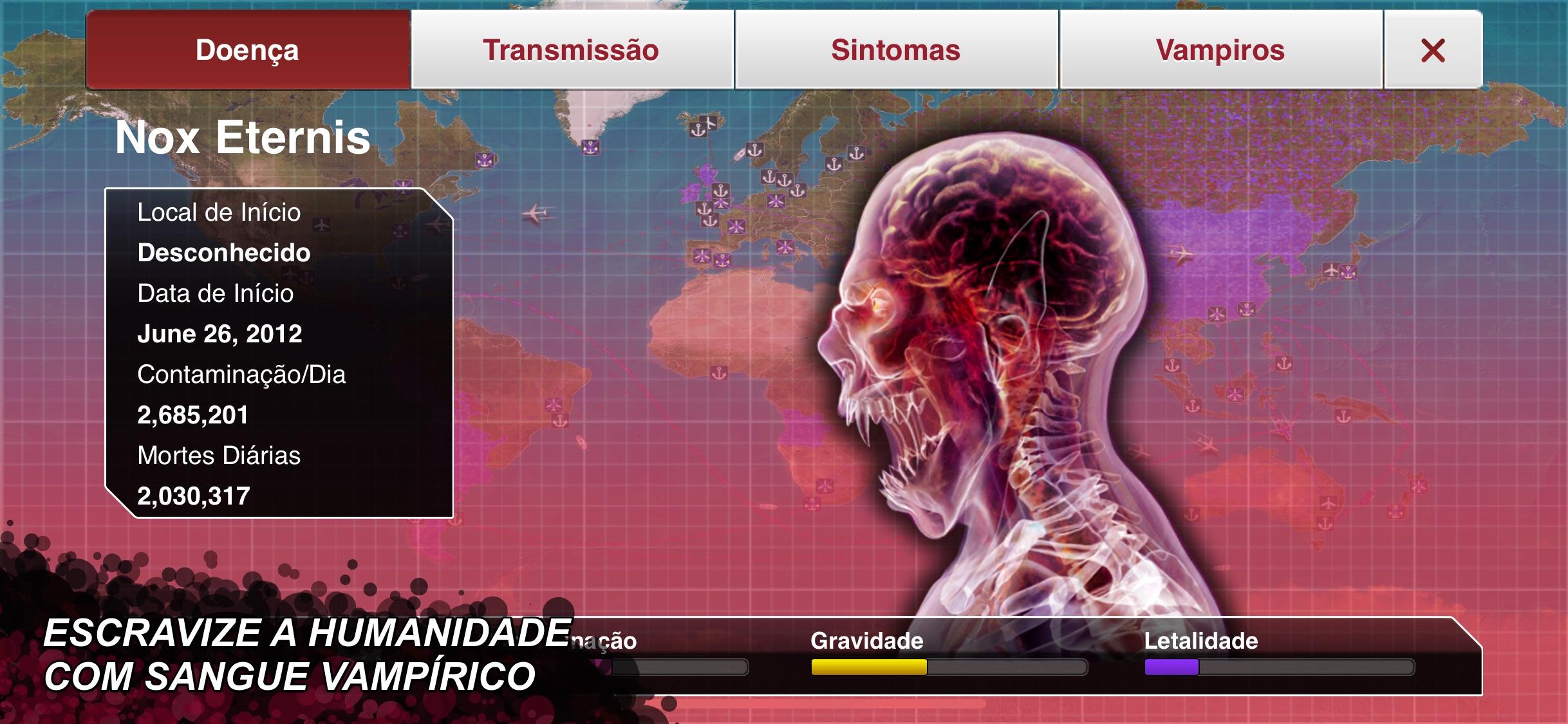 Screenshot do app Plague Inc.