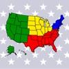 アメリカ合衆国の州:米国の首都、旗、地図に関する地理クイズ - iPadアプリ