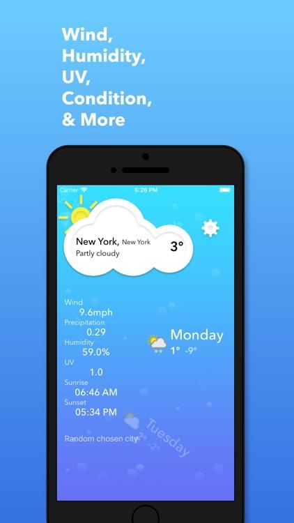 Simple Weather+ Forecast screenshot-3