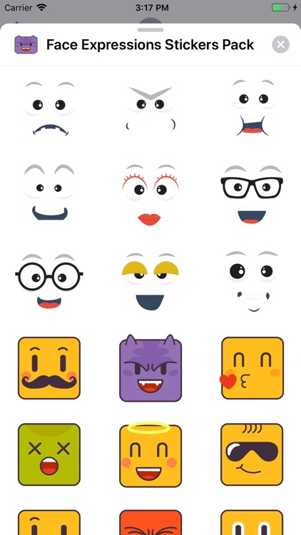 Face Expressions Stickers Pack