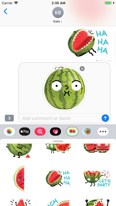 Screenshot for Watermelon Emojis in United States App Store