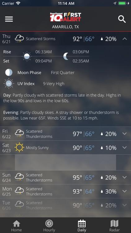 KFDA - NewsChannel 10 Weather screenshot-3