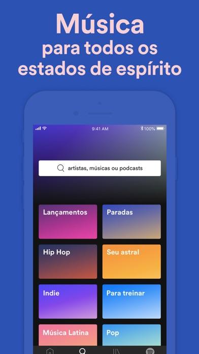Screenshot for Spotify - Música e Podcasts in Brazil App Store
