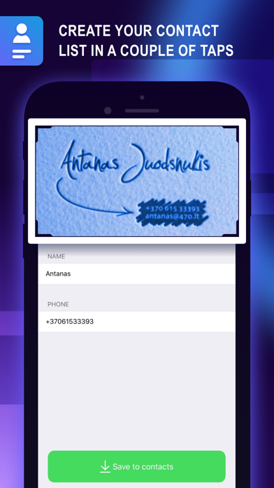 Screenshot for Business Card Holder: Contacts in Kazakhstan App Store