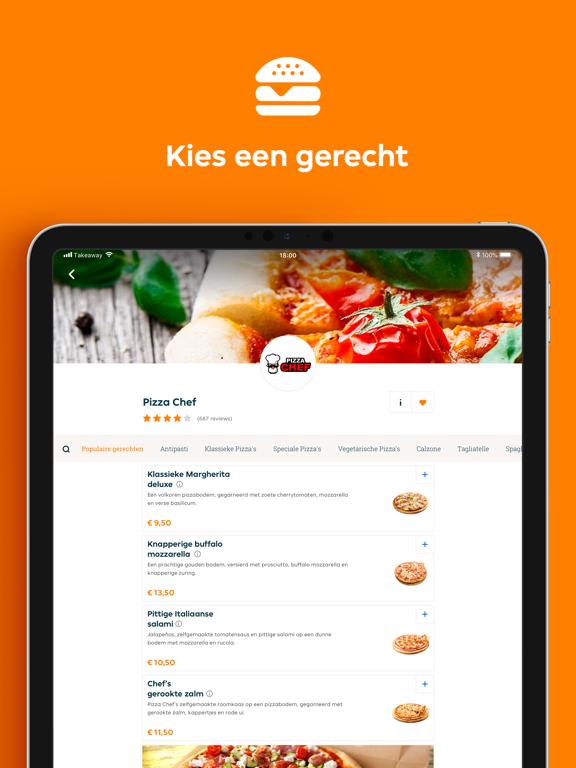 Thuisbezorgd.nl iPad app afbeelding 3