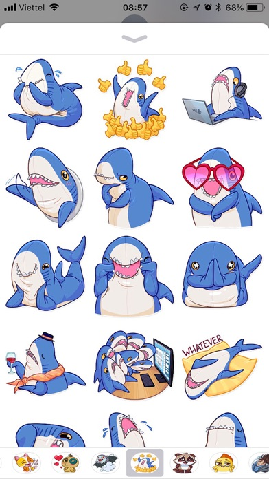 Cute Shark Emoji Funny Sticker screenshot 1