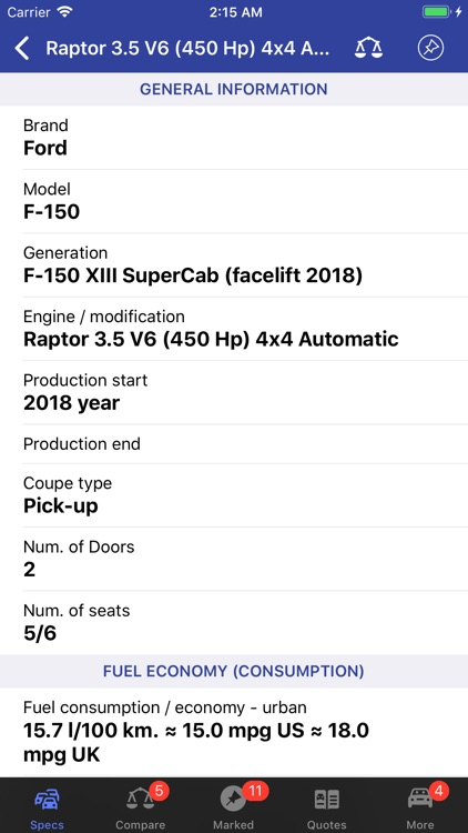 Ford Specs ◆ screenshot-3