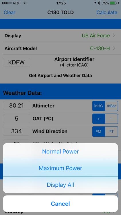C130 TOLD Calculator: T56-A-15 screenshot-4