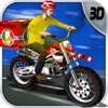 Pizza Delivery Bike Rider App Icon