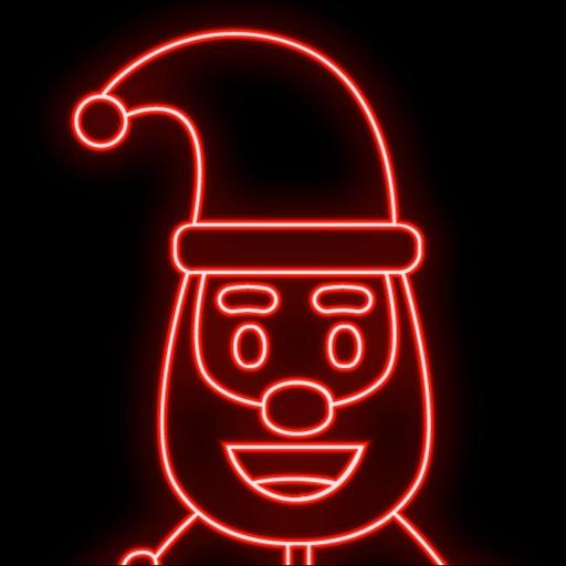 Neon Santa Emojis