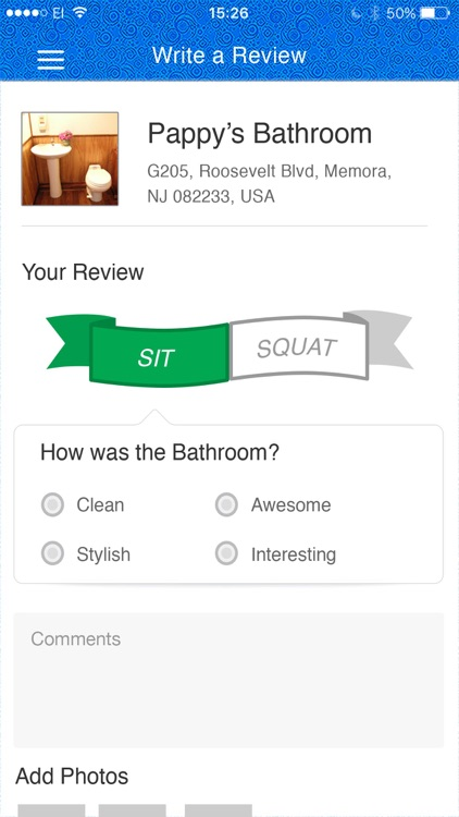 SitOrSquat: Restroom Finder screenshot-3
