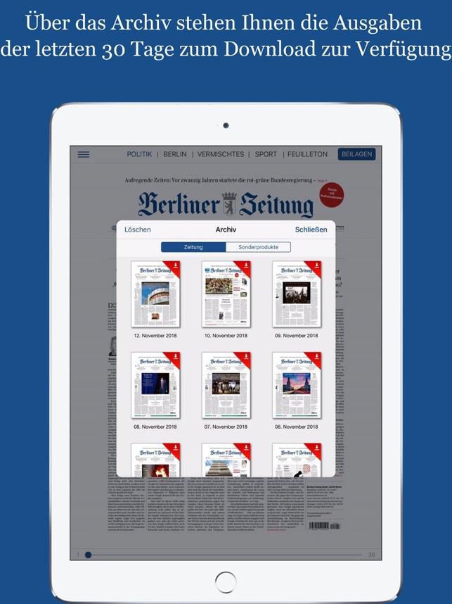 Berliner Zeitung E Paper Im App Store