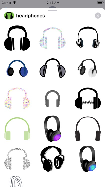 Lotsa Headphone Stickers