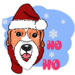Dogs And Christmas Sticker