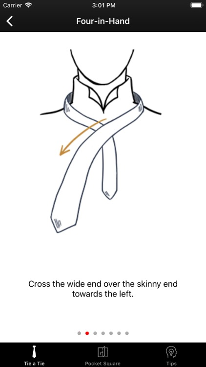 How To Tie a Tie • screenshot-2