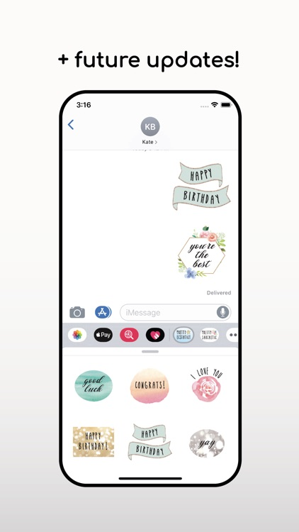 Pretty Ecstatic! Text Stickers
