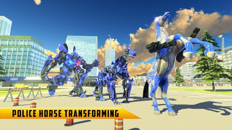 Police Robot Car - Horse games screenshot-6