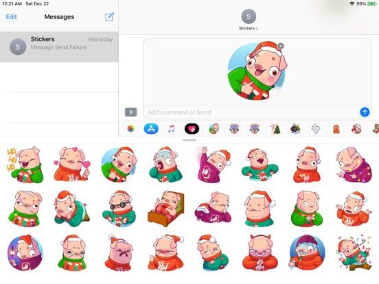 Christmas Piggy Funny Sticker screenshot 5