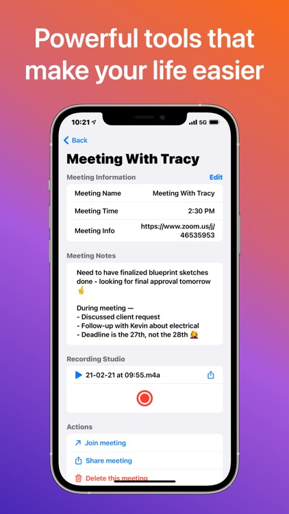 Meetings: Manage with Ease screenshot-3