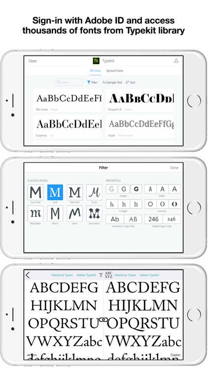 Typography Insight for iPhone