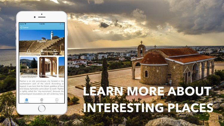 Cyprus Travel Audio Guide Map