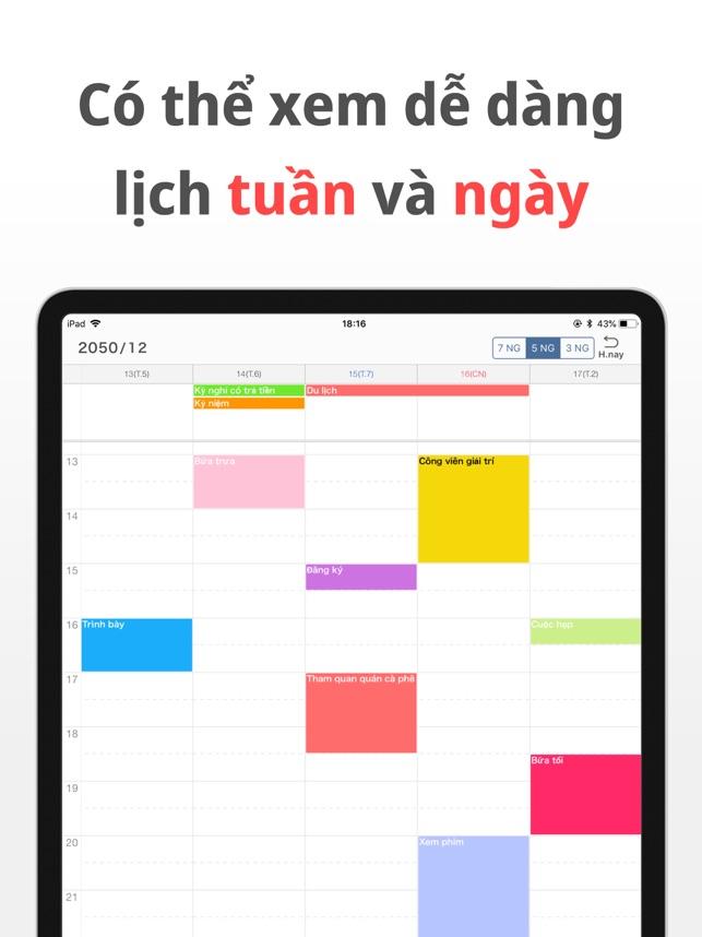 Lịch tiện ích - Ứng dụng lịch