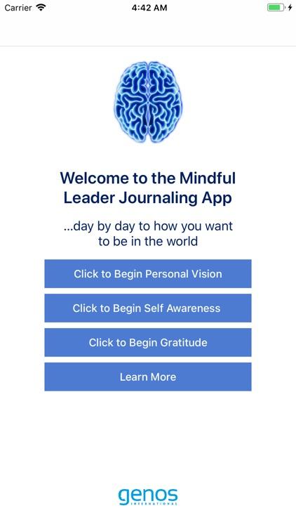 Mindful Leader Journaling App