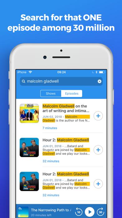 The Podcast App Screenshot