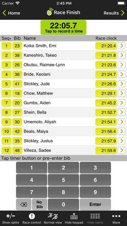 Webscorer Race Timer screenshot-4