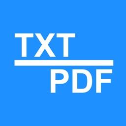 Txt2PDF - TXT File to PDF