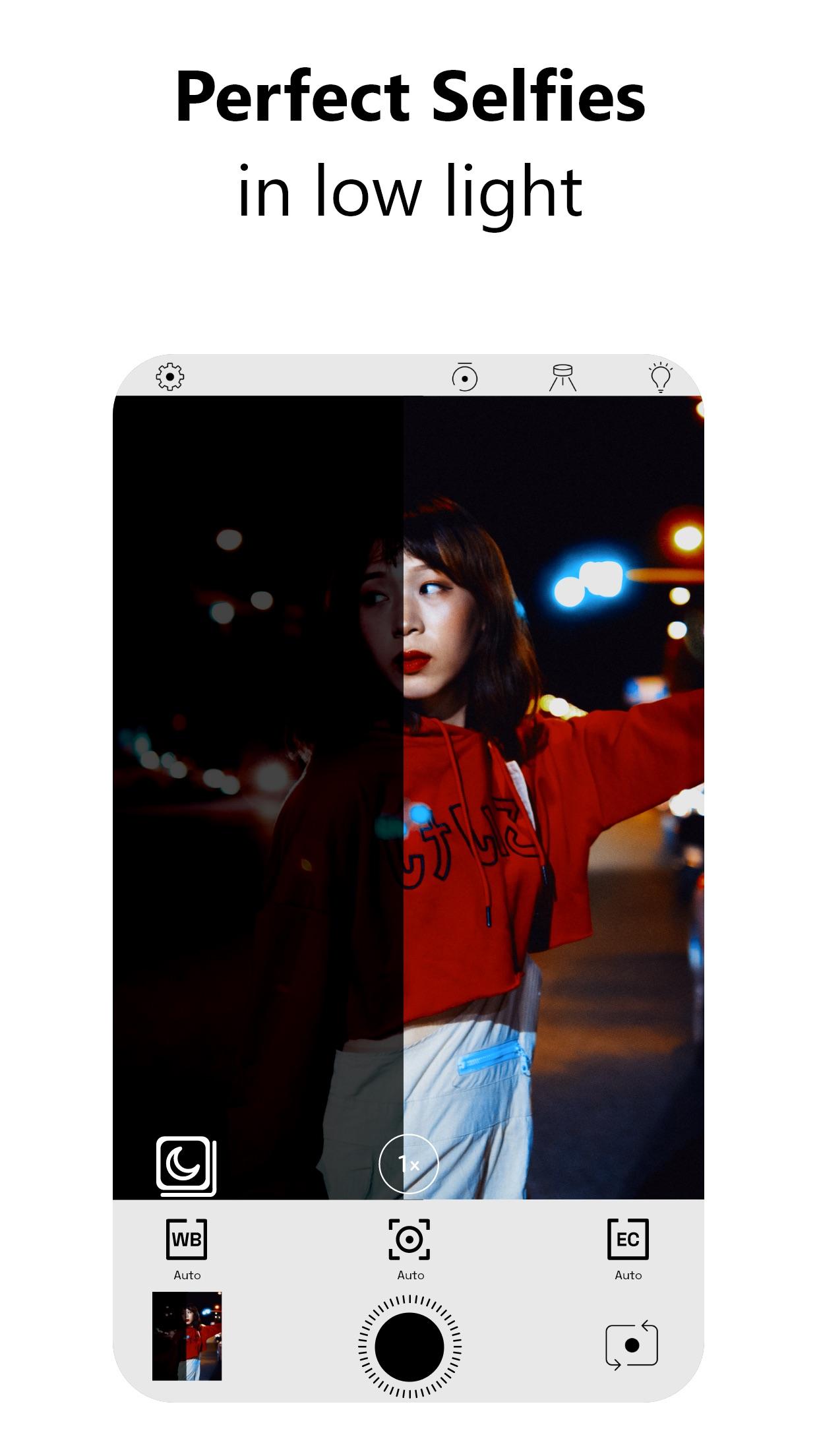 Screenshot do app NeuralCam NightMode