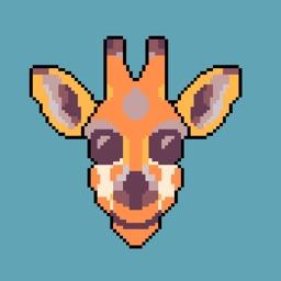 Giraffe Pixel Art Emoji