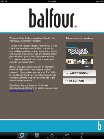 Balfour eYearbook Reader - náhled
