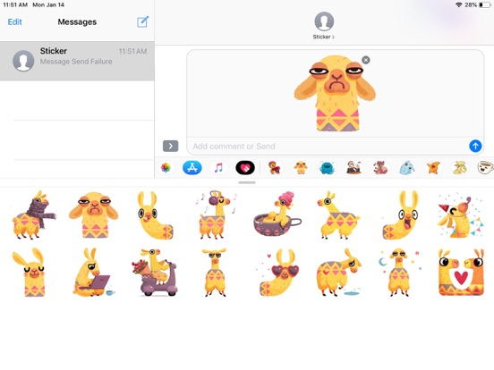 Hipster Lama Funny Stickers screenshot 3