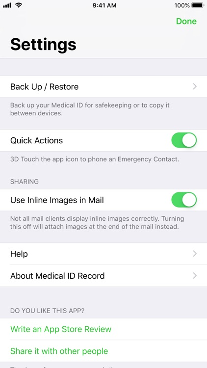 Medical ID Record screenshot-7