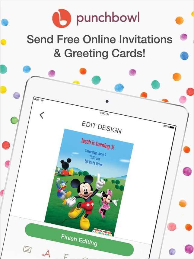 Punchbowl Invitations Cards On The App Store