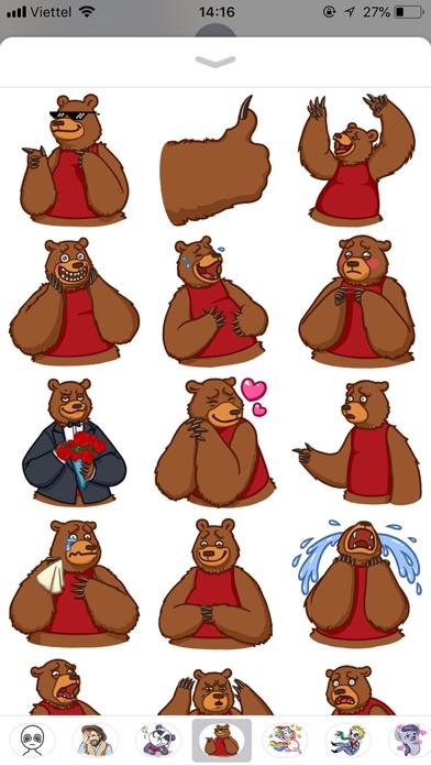 Cute Bear Pun Funny Stickers screenshot 1