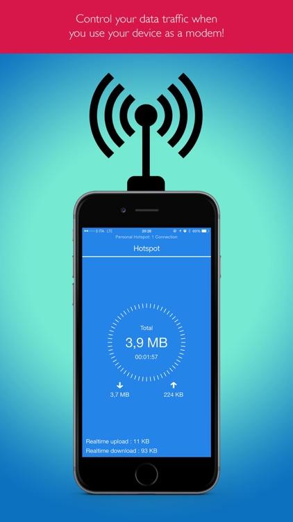 Hotspot Monitor Data Usage