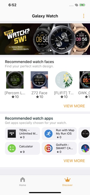Samsung Galaxy Watch (Gear S) on the App Store