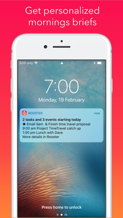 Rooster: Daily Planner, Agenda screenshot-3