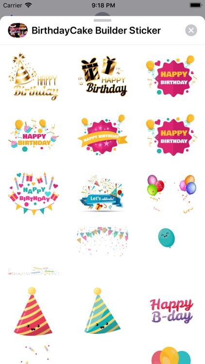 Birthday Cake Builder Sticker screenshot-5