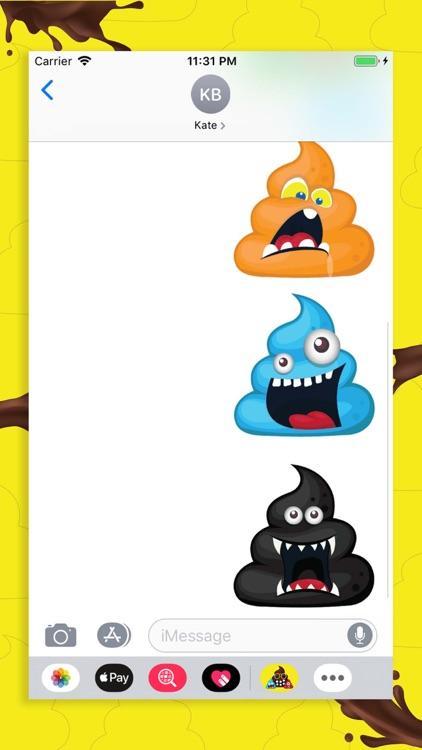 Monster Poopy Emoji screenshot-3