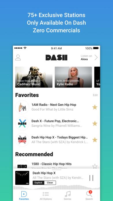 Dash Radio - Commercial Free Music screenshot