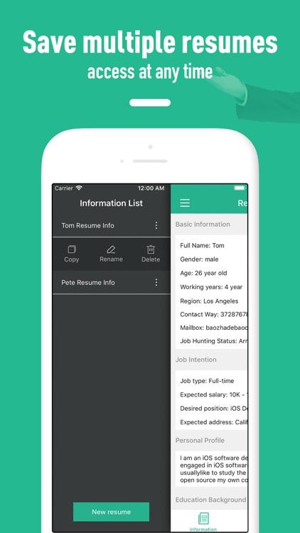 Resume builder - template screenshot-4