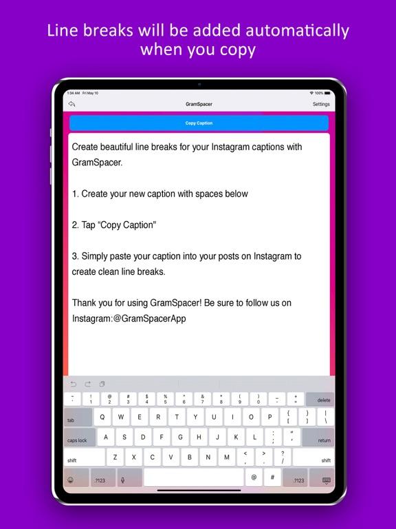 GramSpacer For Instagram Screenshots
